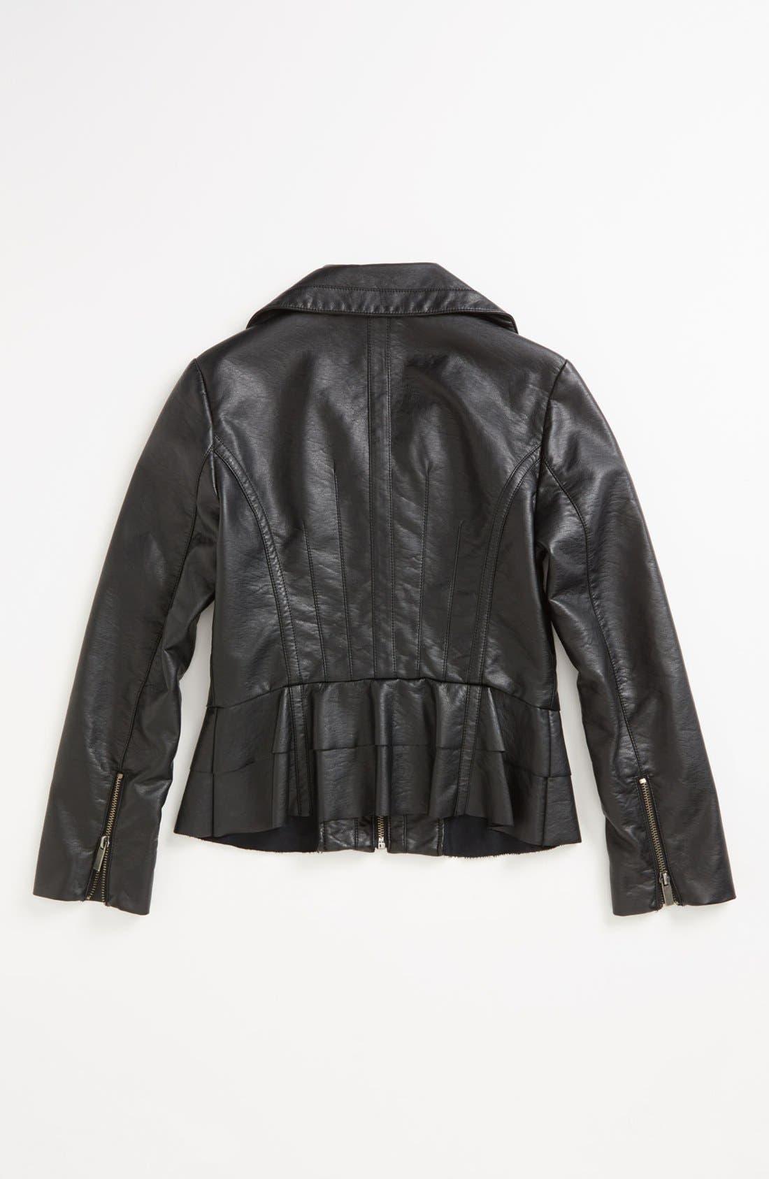 Alternate Image 2  - Sugarfly Moto Jacket (Big Girls)