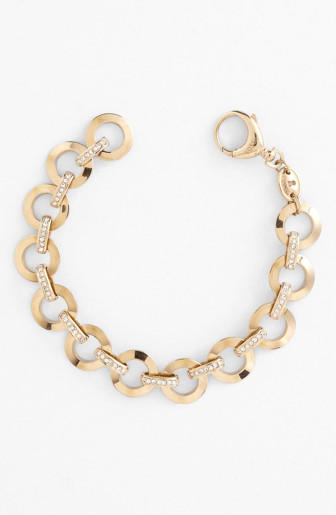 Main Image - Fossil Circle Link Charm Bracelet
