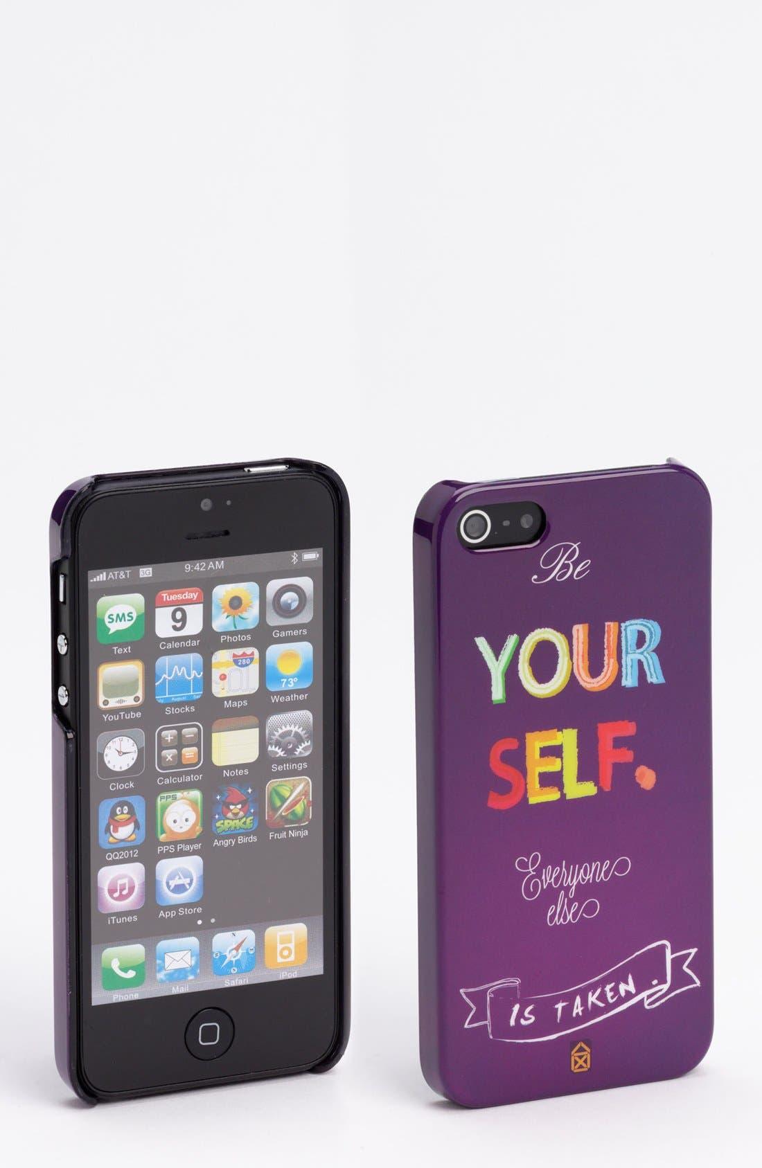Alternate Image 1 Selected - Case Scenario 'Be Yourself' iPhone 5 Case