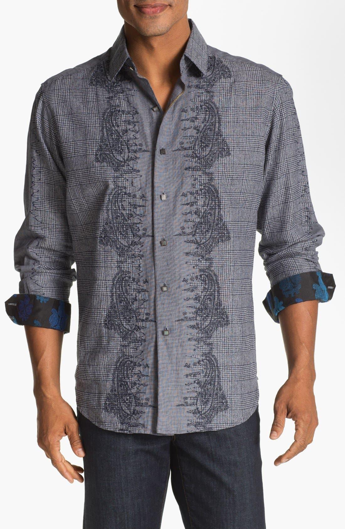 Alternate Image 1 Selected - Robert Graham 'Crowne' Regular Fit Sport Shirt (Limited Edition)