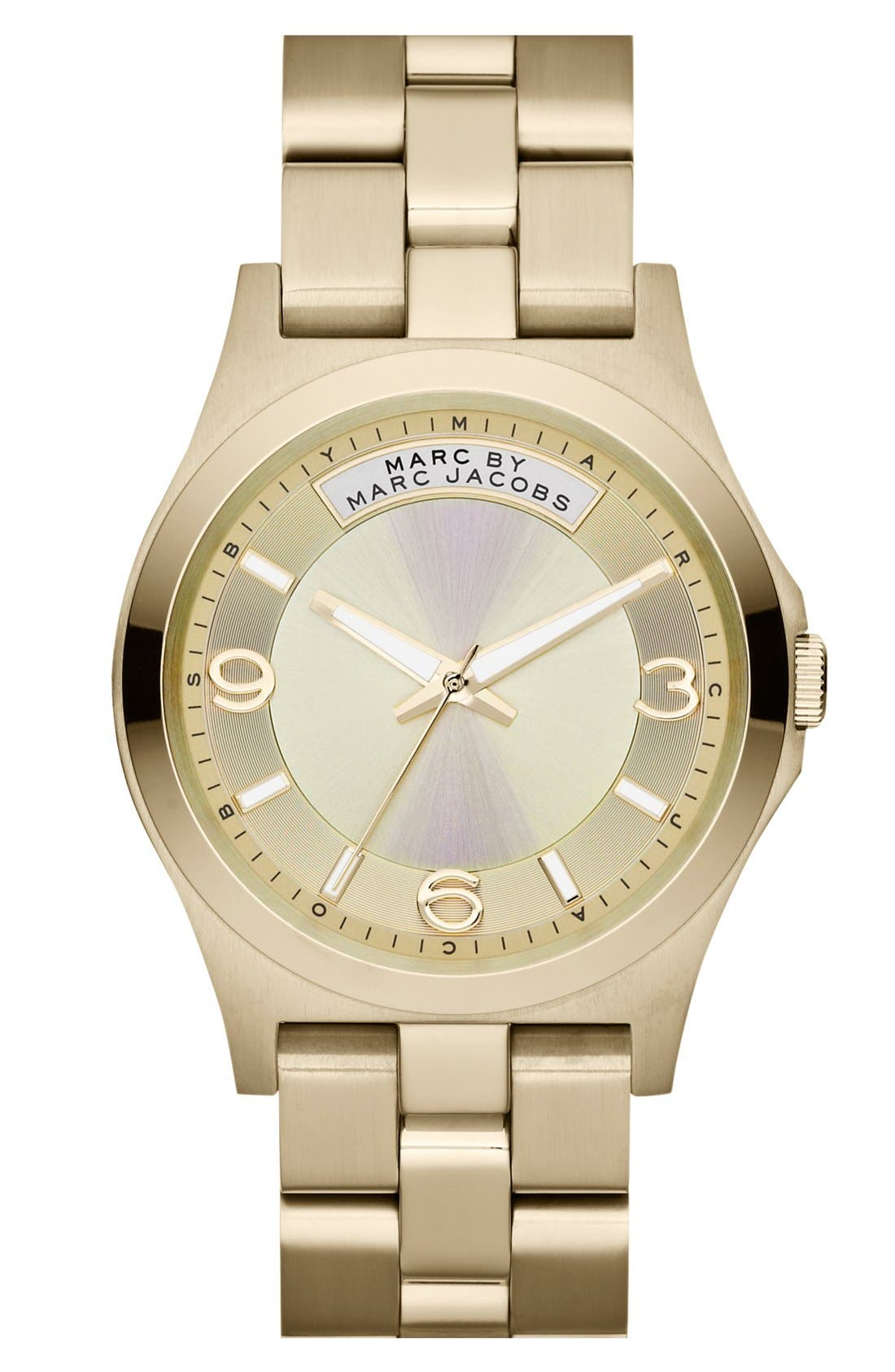 Alternate Image 1 Selected - MARC JACOBS 'Baby Dave' Bracelet Watch, 40mm