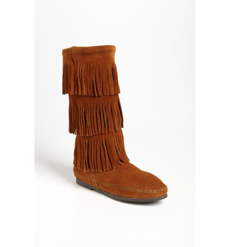 Minnetonka 3-Layer Fringe Boot | Nordstrom