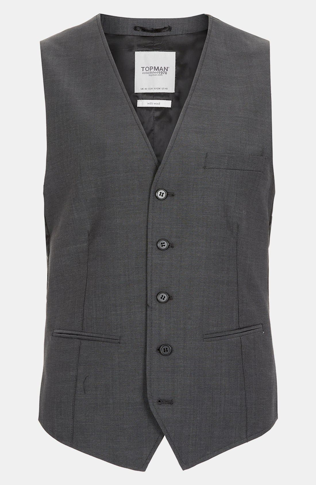 Alternate Image 1 Selected - Topman Skinny Fit Vest