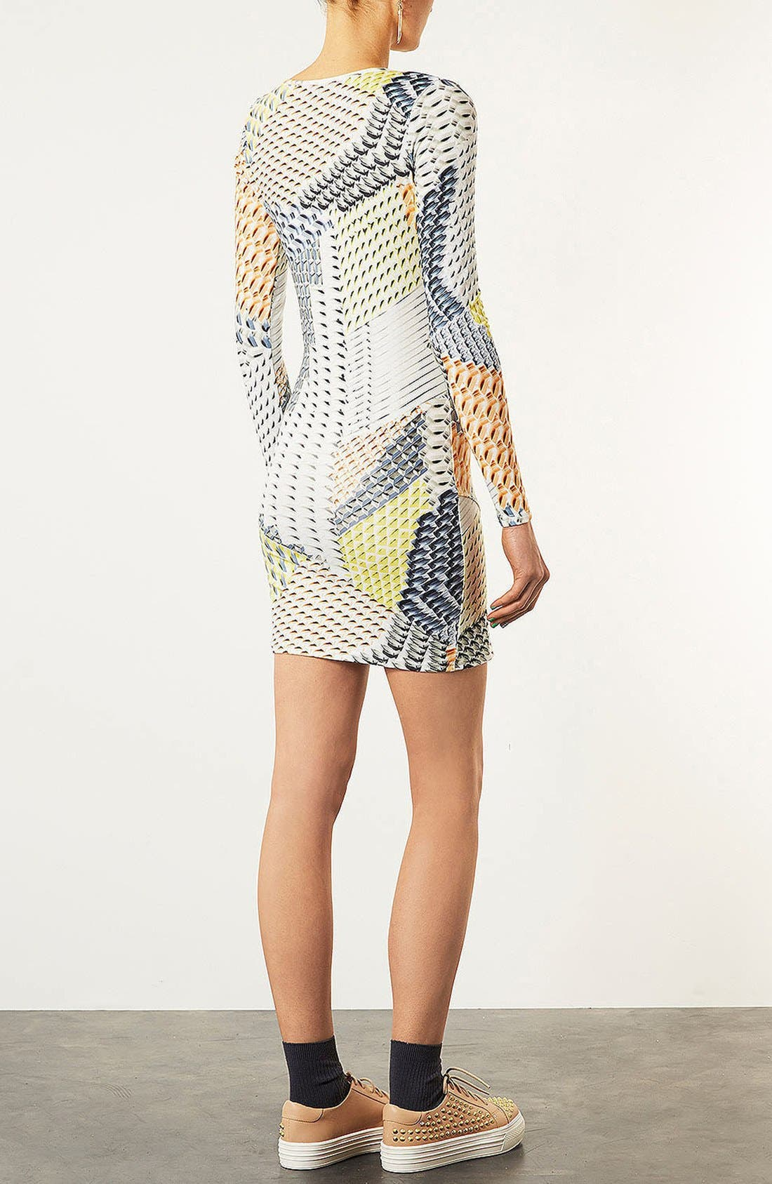 Alternate Image 3  - Topshop Geo Tile Body-Con Dress