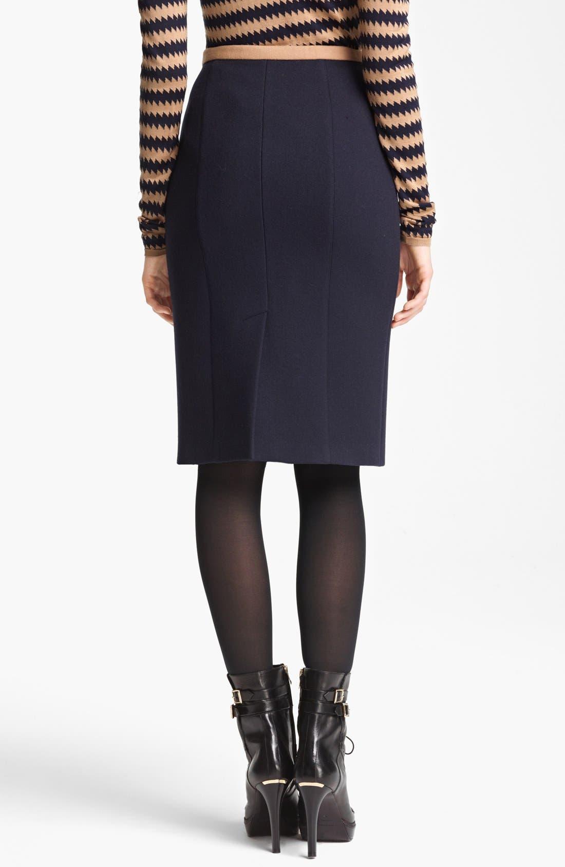 Alternate Image 2  - Burberry Prorsum Contrast Waist Skirt