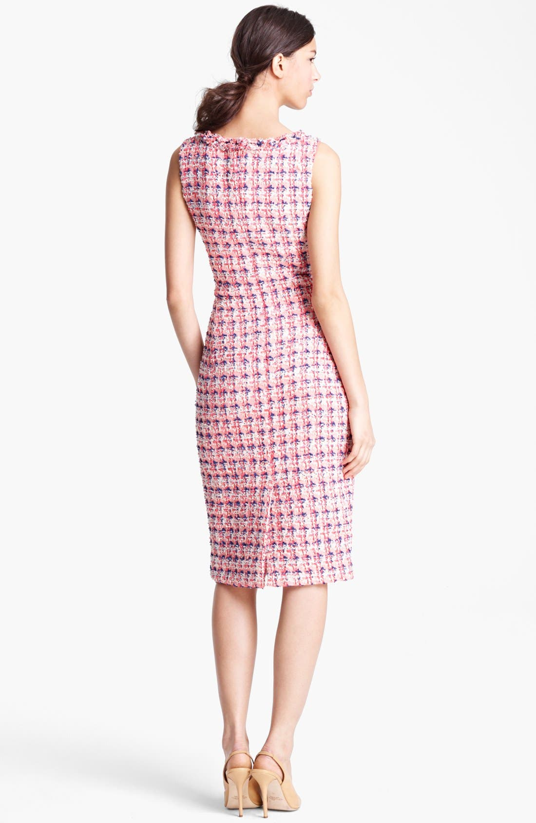 Alternate Image 2  - Oscar de la Renta Slim Tweed Dress