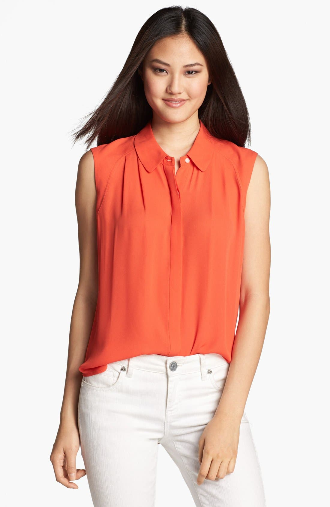 Alternate Image 1 Selected - Halogen® Sleeveless Shirt (Regular & Petite)