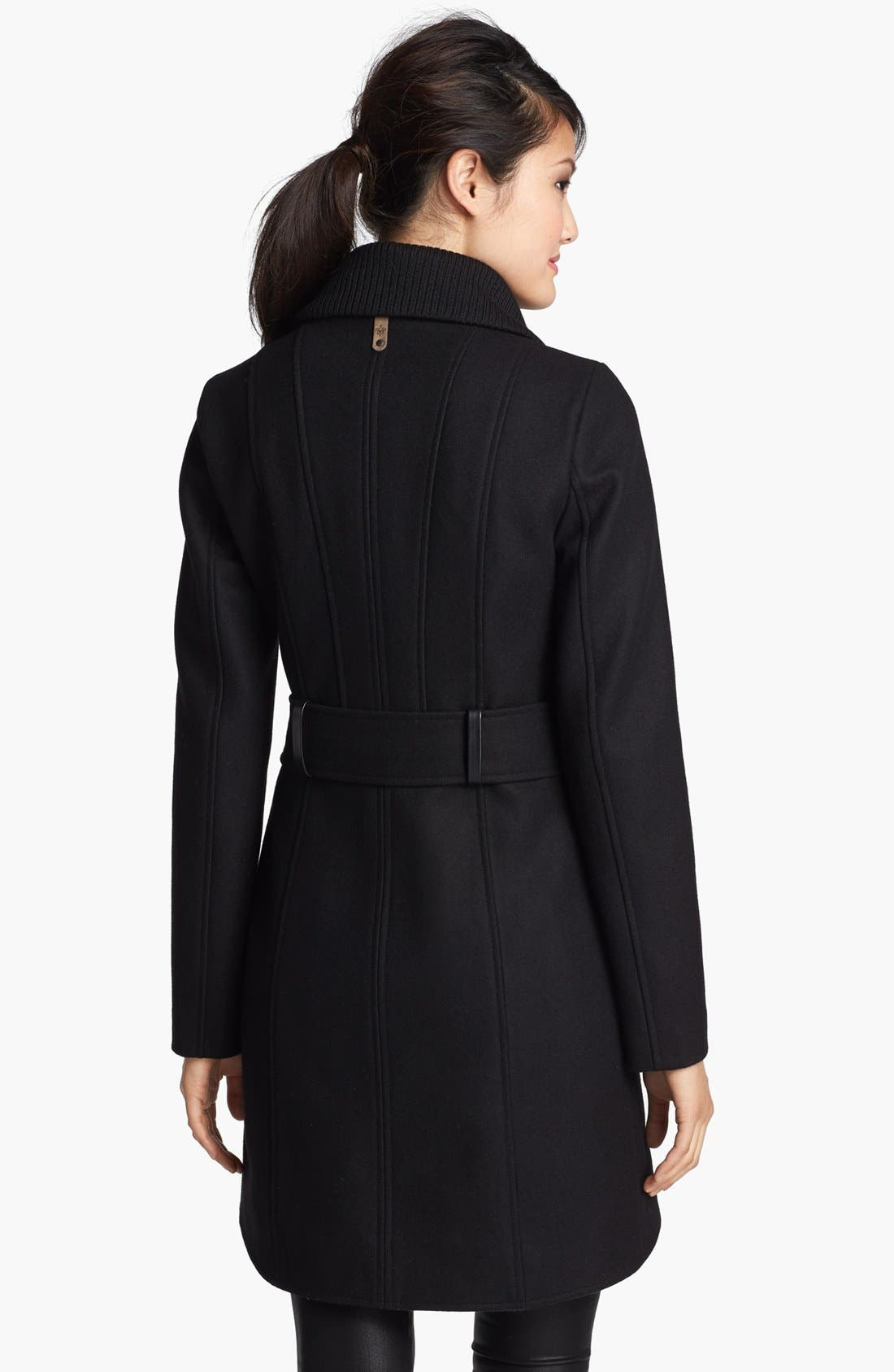 Alternate Image 2  - Mackage Leather Trim Double Breasted Coat
