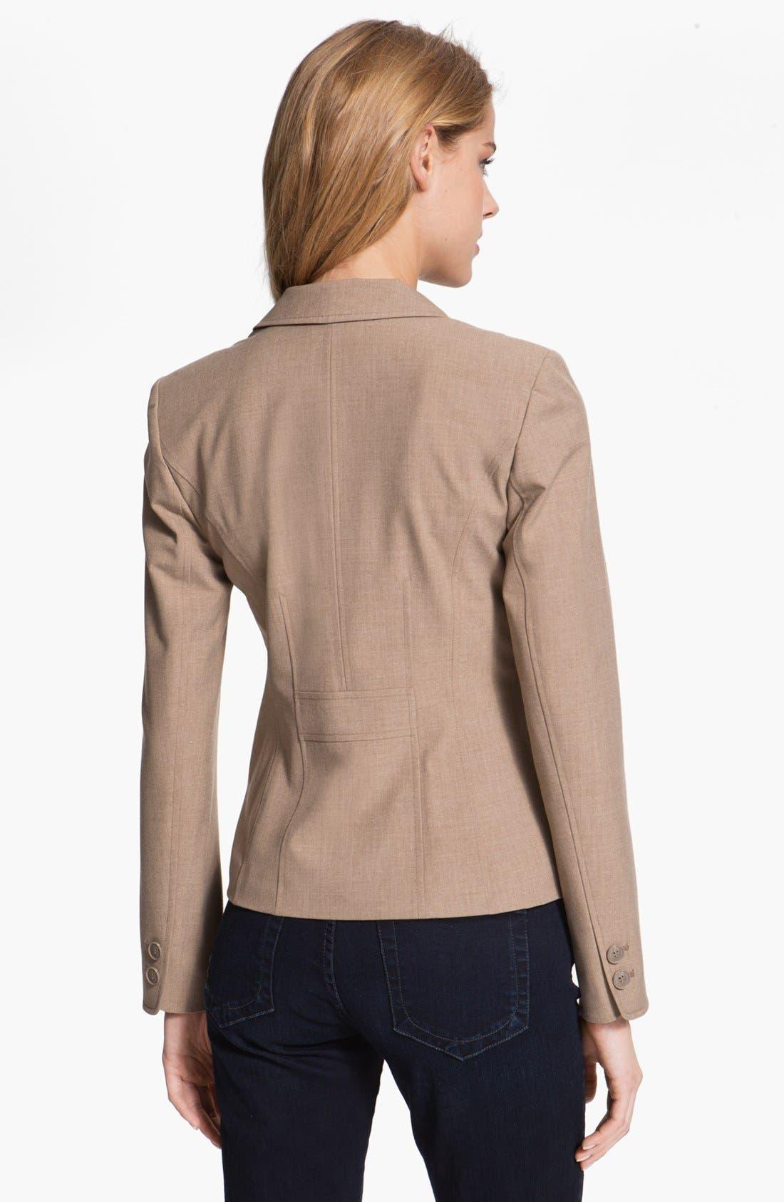 Alternate Image 2  - Halogen® Three Button Jacket (Petite)