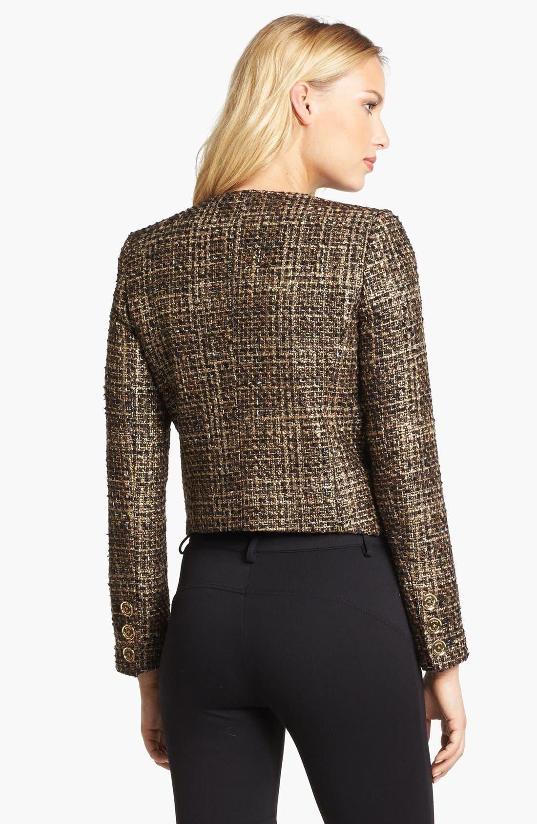 Alternate Image 2  - MICHAEL Michael Kors Plaid Tweed Jacket