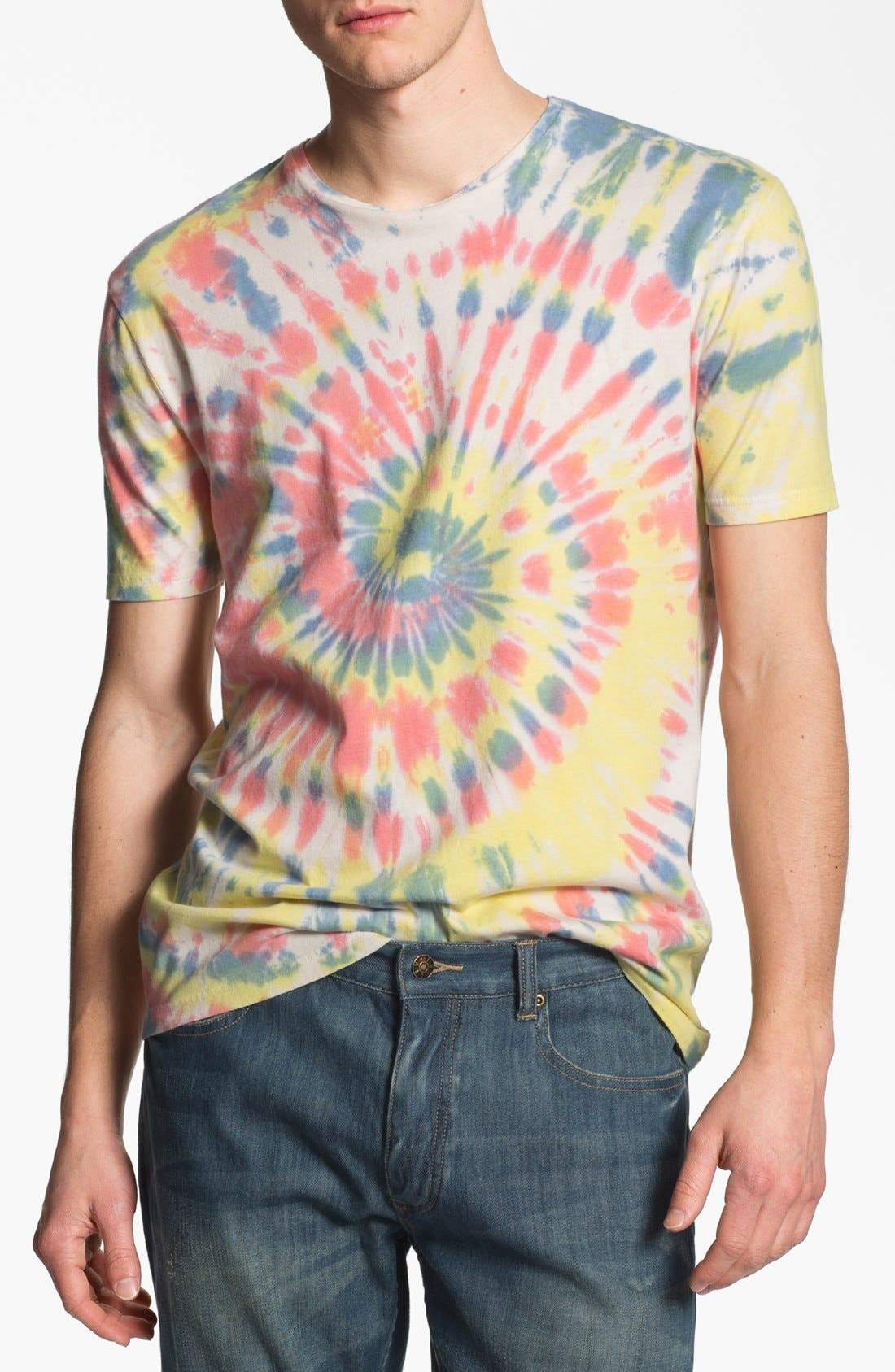 Main Image - Topman Tie Dye Crewneck T-Shirt