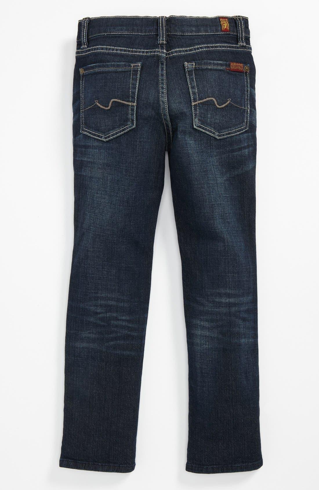 Alternate Image 1 Selected - 7 For All Mankind® 'Slimmy' Slim Straight Leg Jeans (Little Boys & Big Boys)
