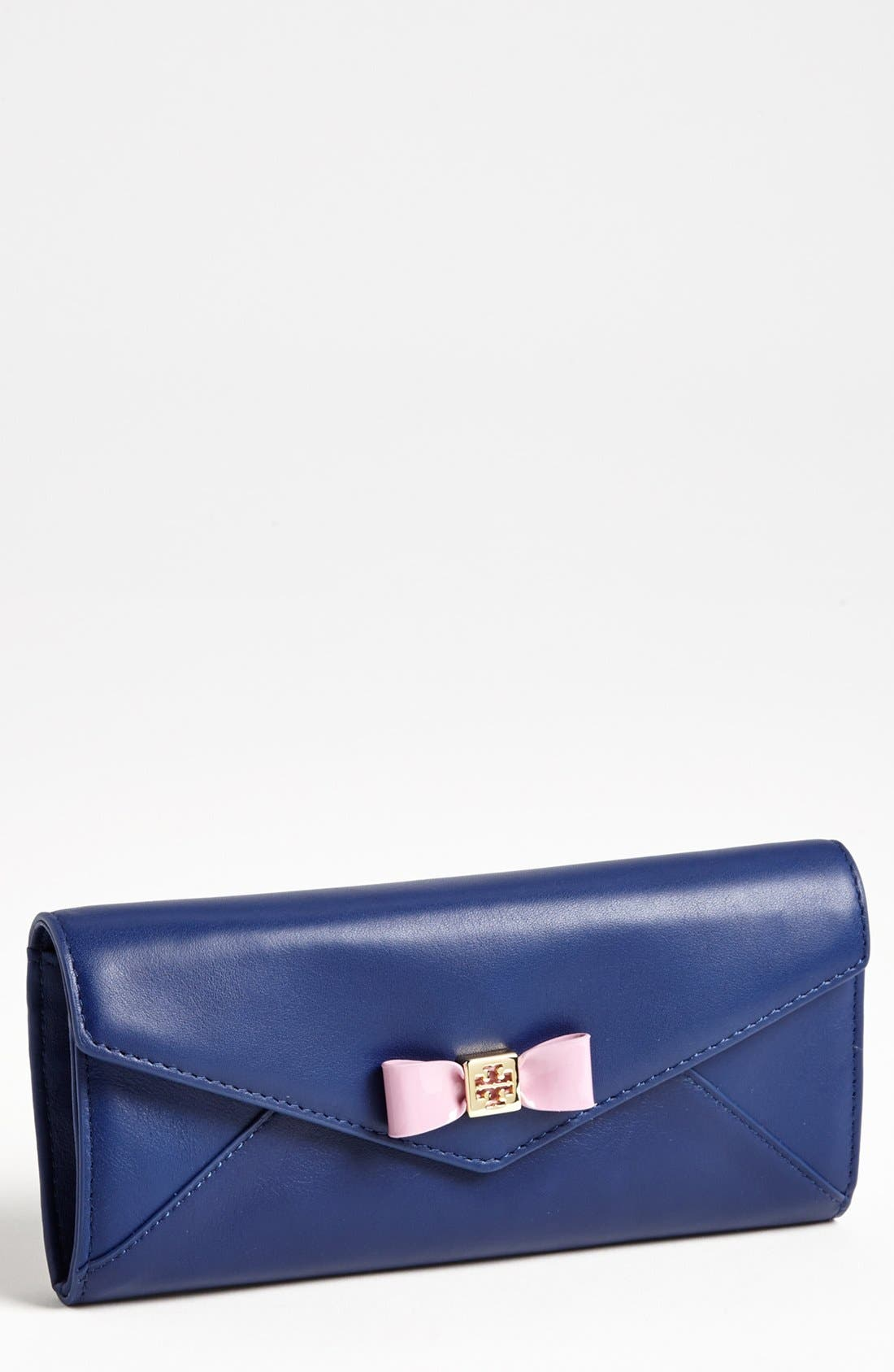 Alternate Image 1 Selected - Tory Burch 'Bow' Envelope Continental Wallet