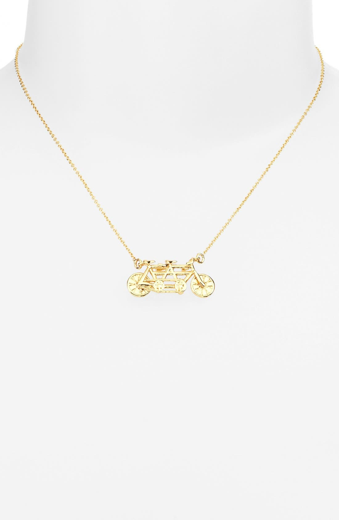 Alternate Image 2  - kate spade new york 'in tandem' bike pendant necklace