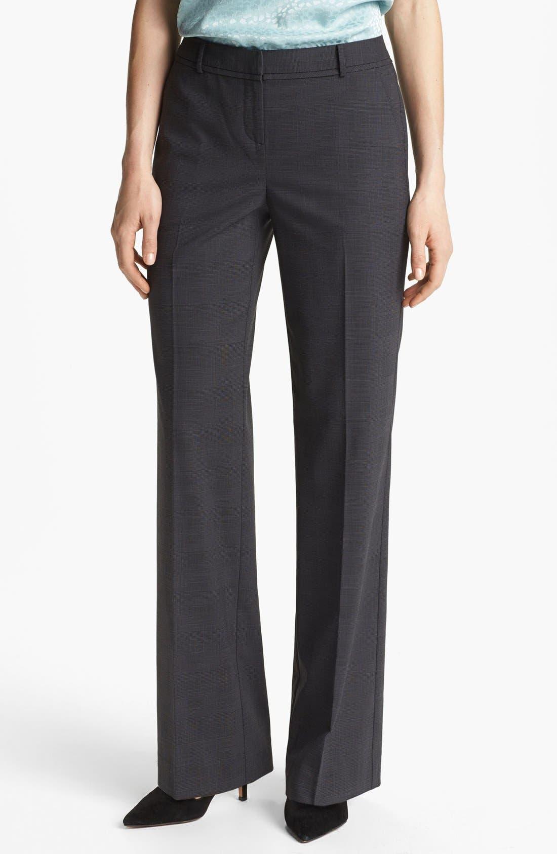 Main Image - Halogen® 'Taylor' Etched Plaid Pants