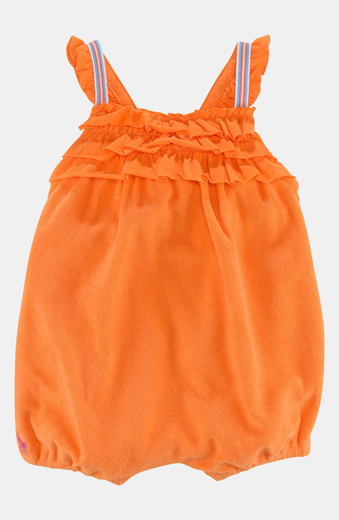 Main Image - Ralph Lauren Terry Cloth Bubble Coveralls (Baby)