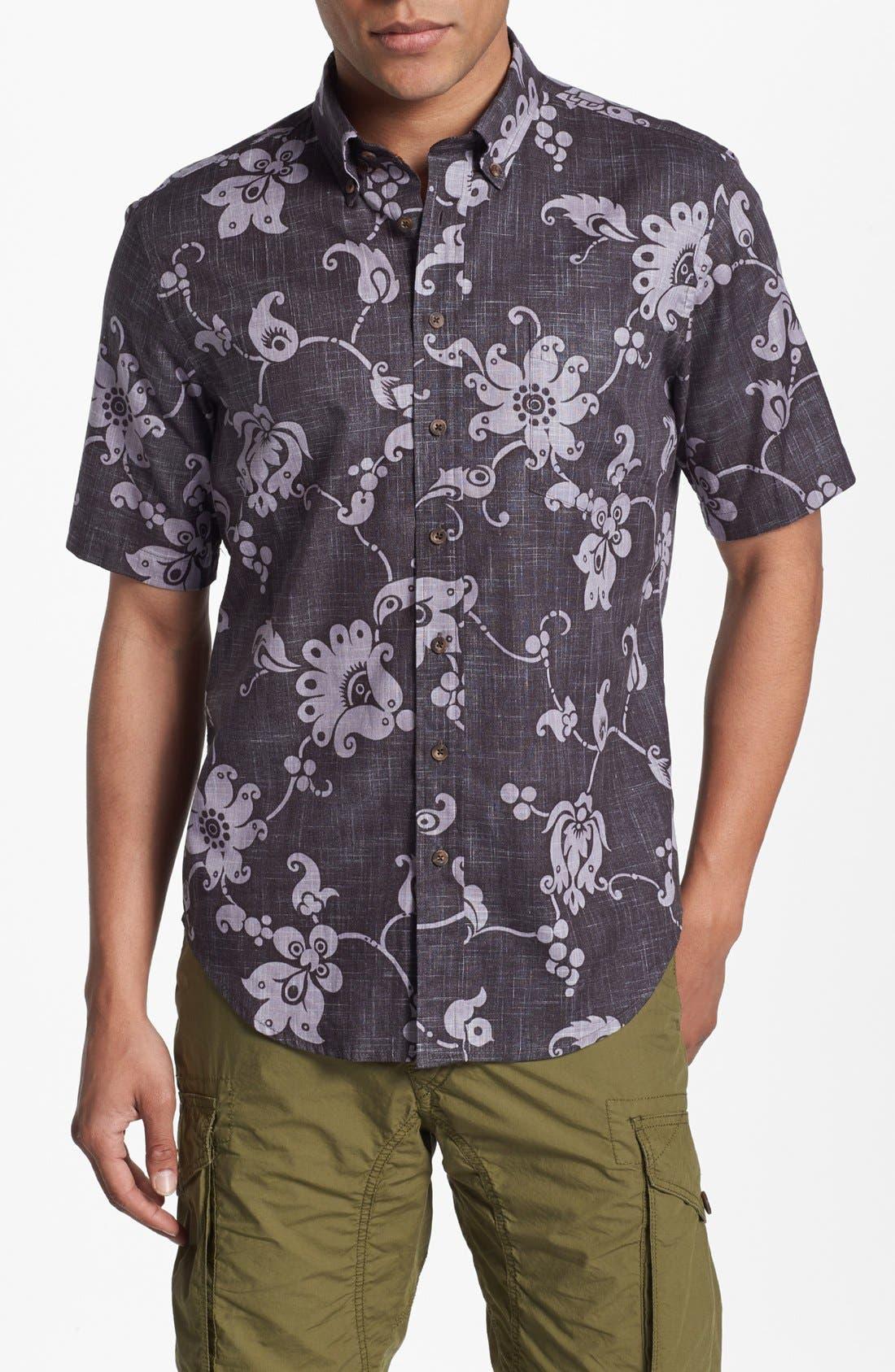 Main Image - Reyn Spooner 'Aloha Pareau' Print Woven Shirt