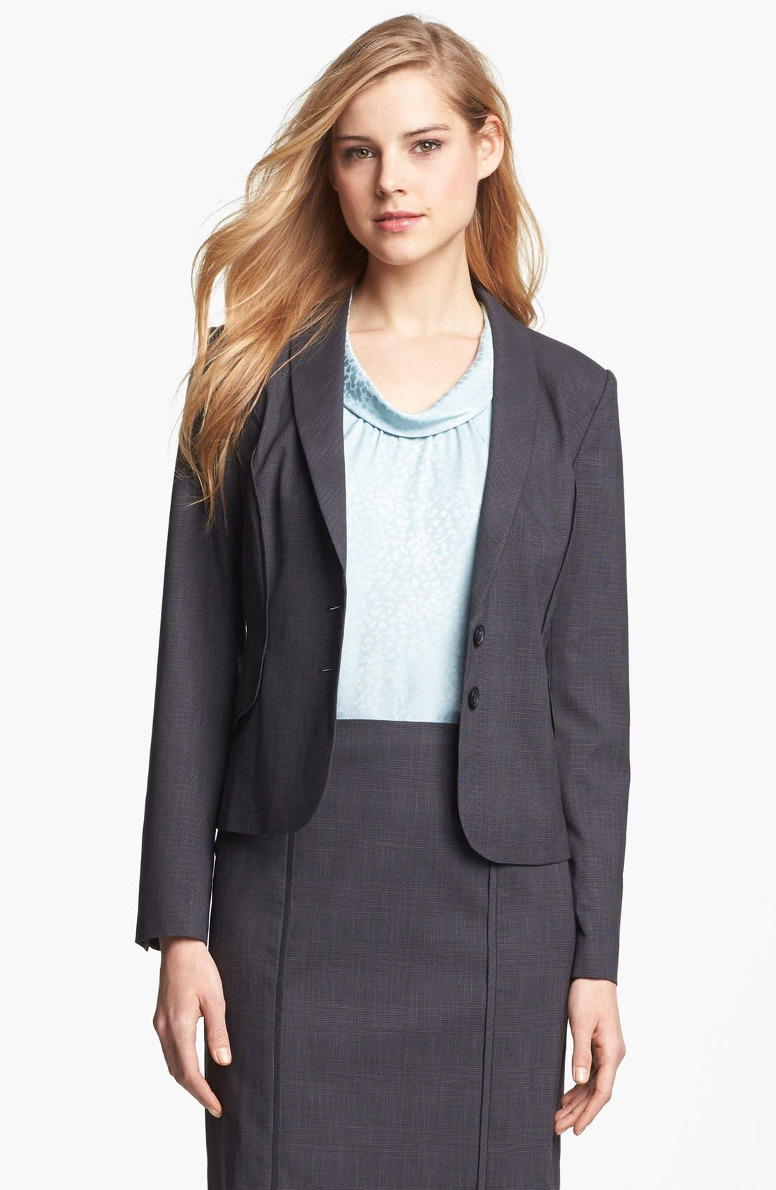 Alternate Image 2  - Halogen® Etched Plaid Suit Jacket