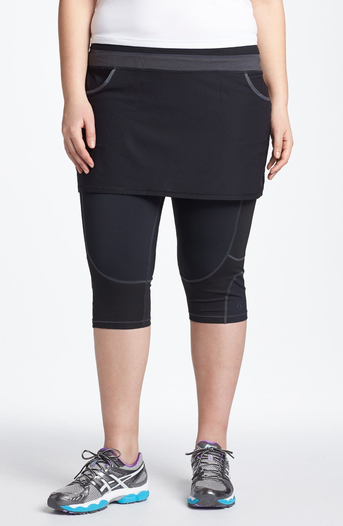 Alternate Image 1 Selected - Moving Comfort 'Flow' Layering Skirt (Plus Size)
