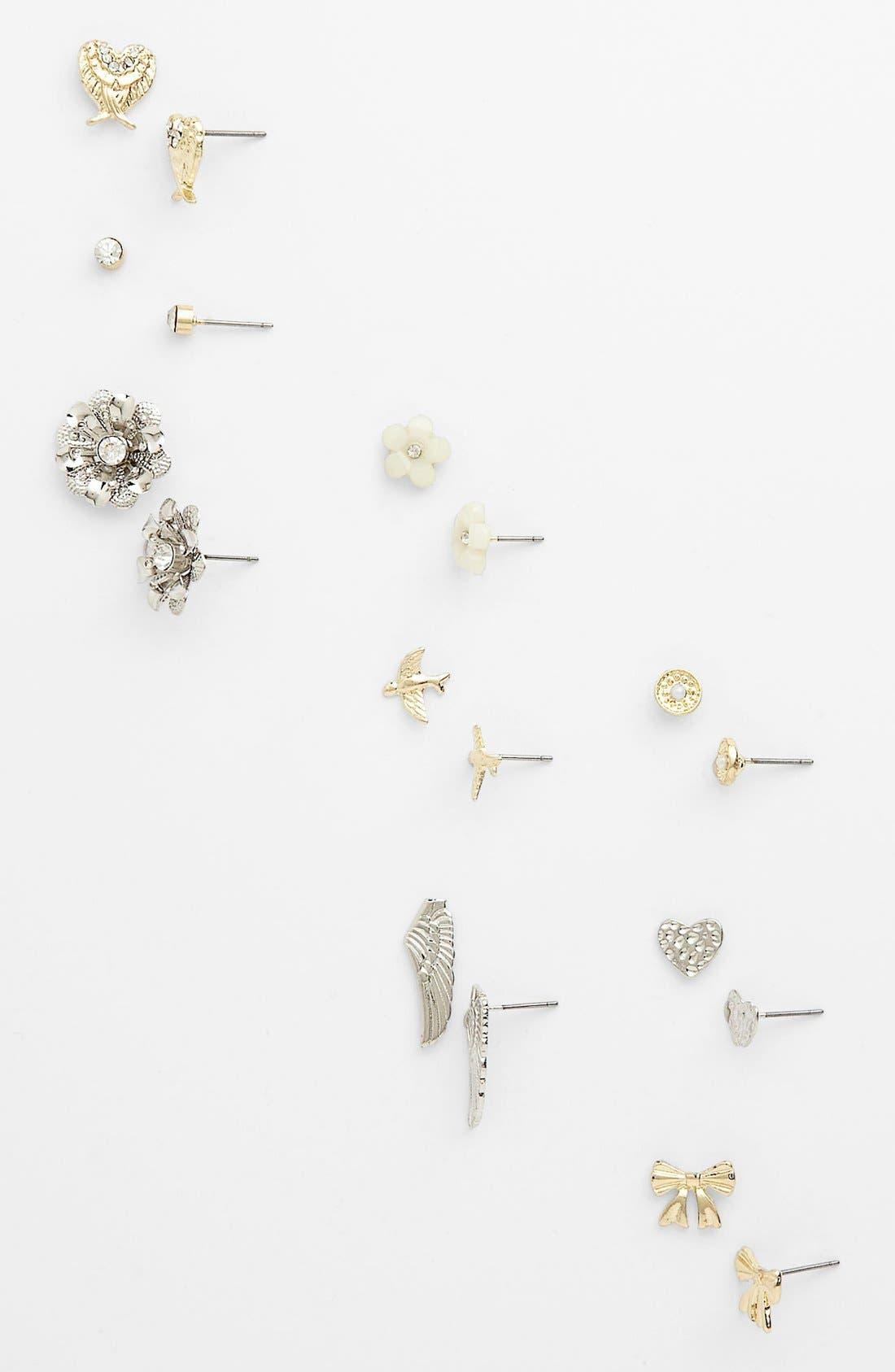 Main Image - Carole Stud Earrings (Set of 9)