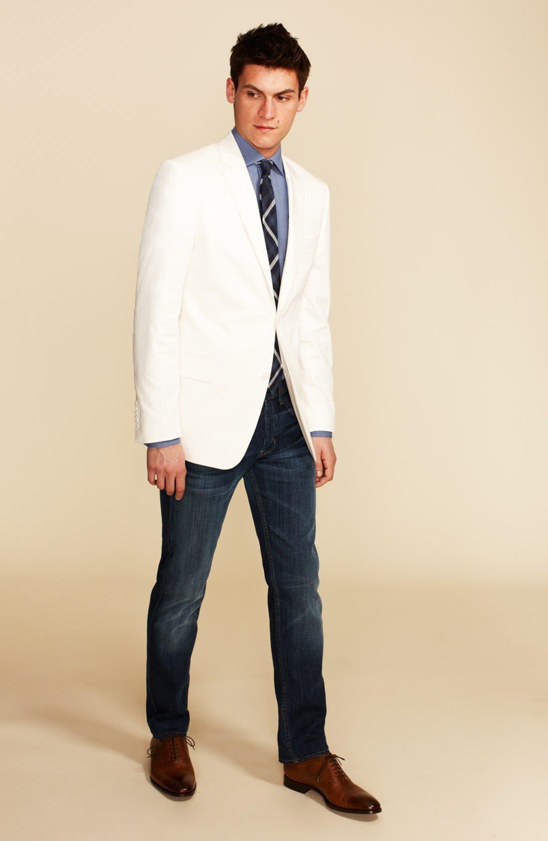 Main Image - John Varvatos Star USA Blazer, 1901 Dress Shirt & Hudson Jeans Straight Leg Jeans