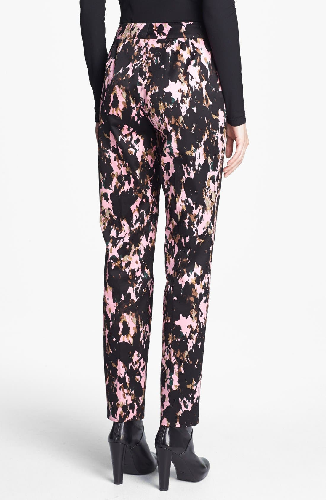 Alternate Image 2  - St. John Collection 'Emma Longe' Abstract Print Stretch Sateen Pants