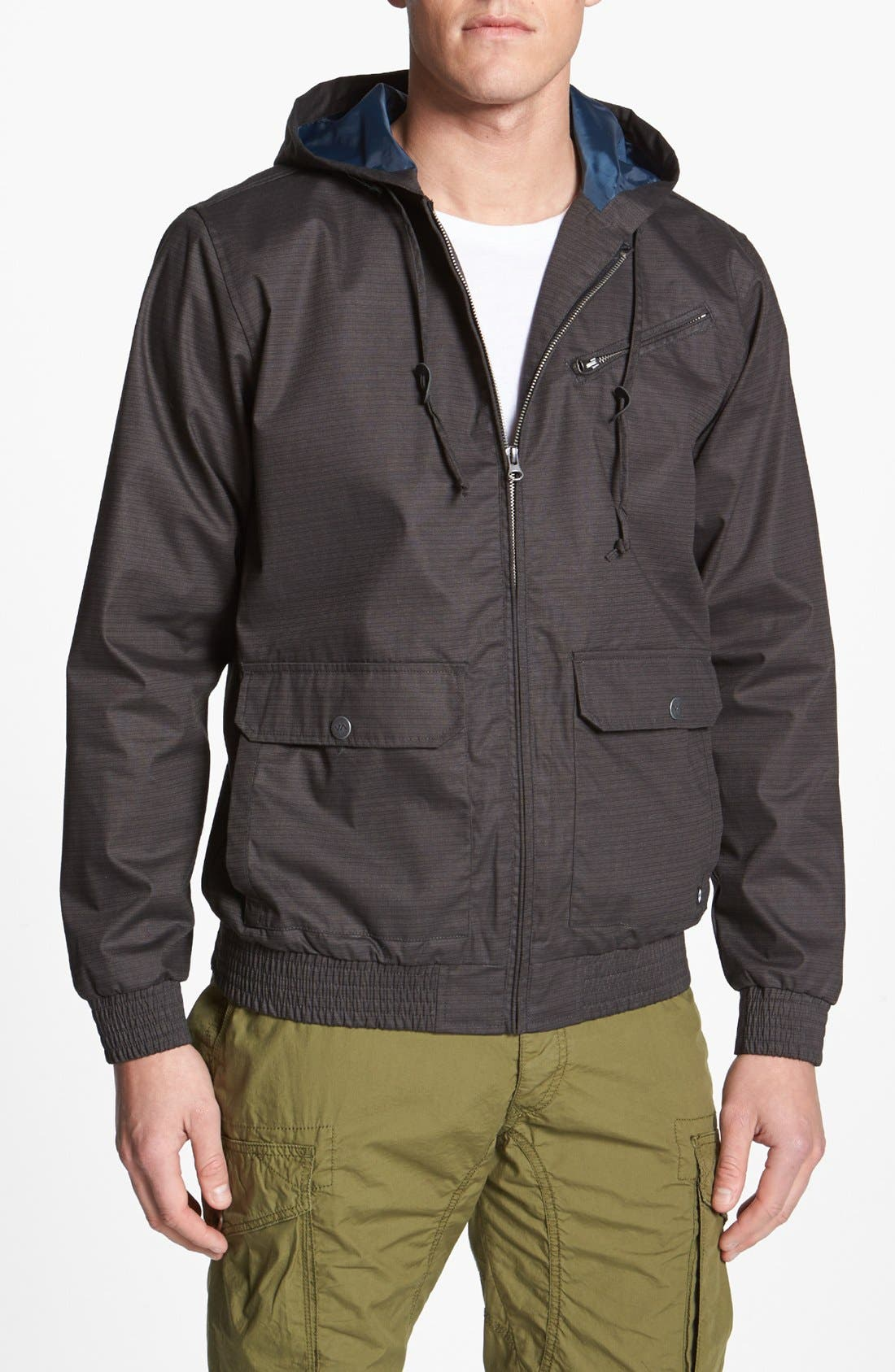 Alternate Image 1 Selected - RVCA 'Sil III' Hooded Jacket