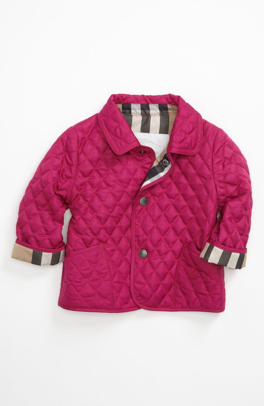 Alternate Image 1 Selected - Burberry 'Colin' Quilted Coat (Toddler Girls)