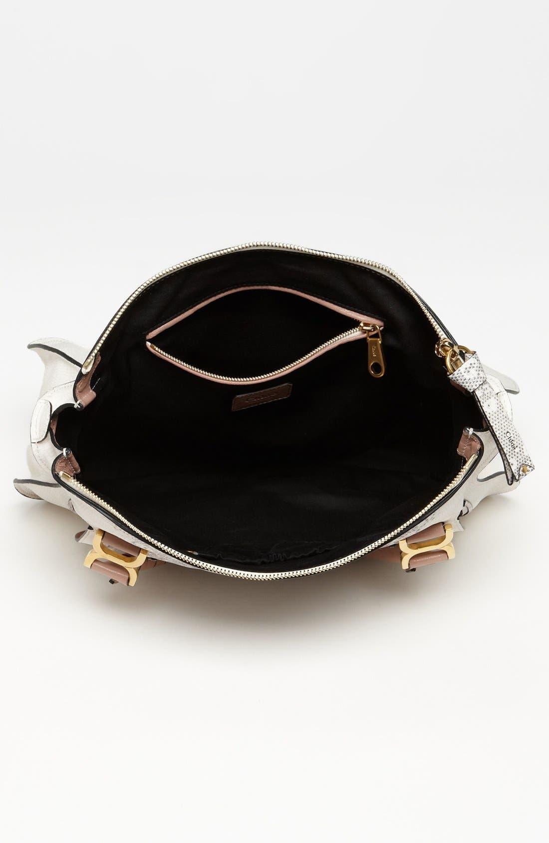 Alternate Image 3  - Chloé 'Marcie - Large' Lizard Print Leather Shoulder Bag