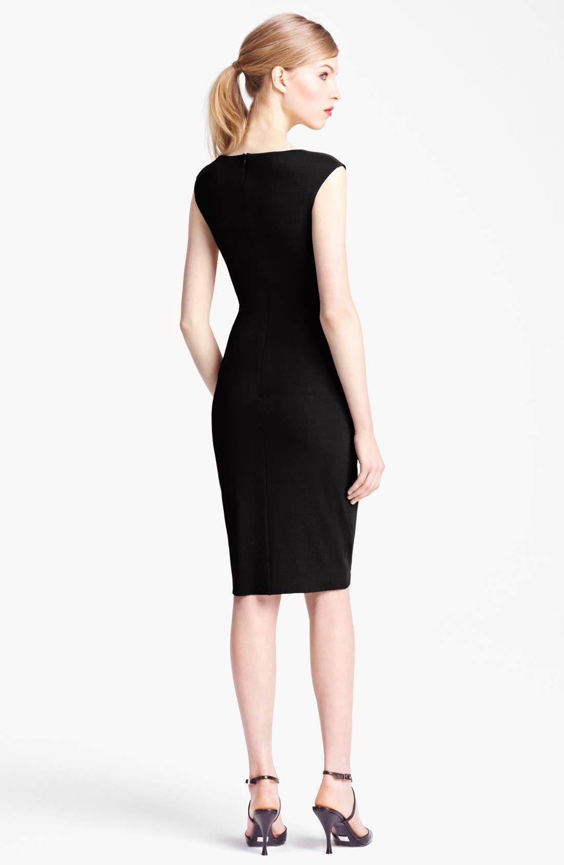 Alternate Image 2  - Michael Kors Tulip Hem Wool Jersey Dress