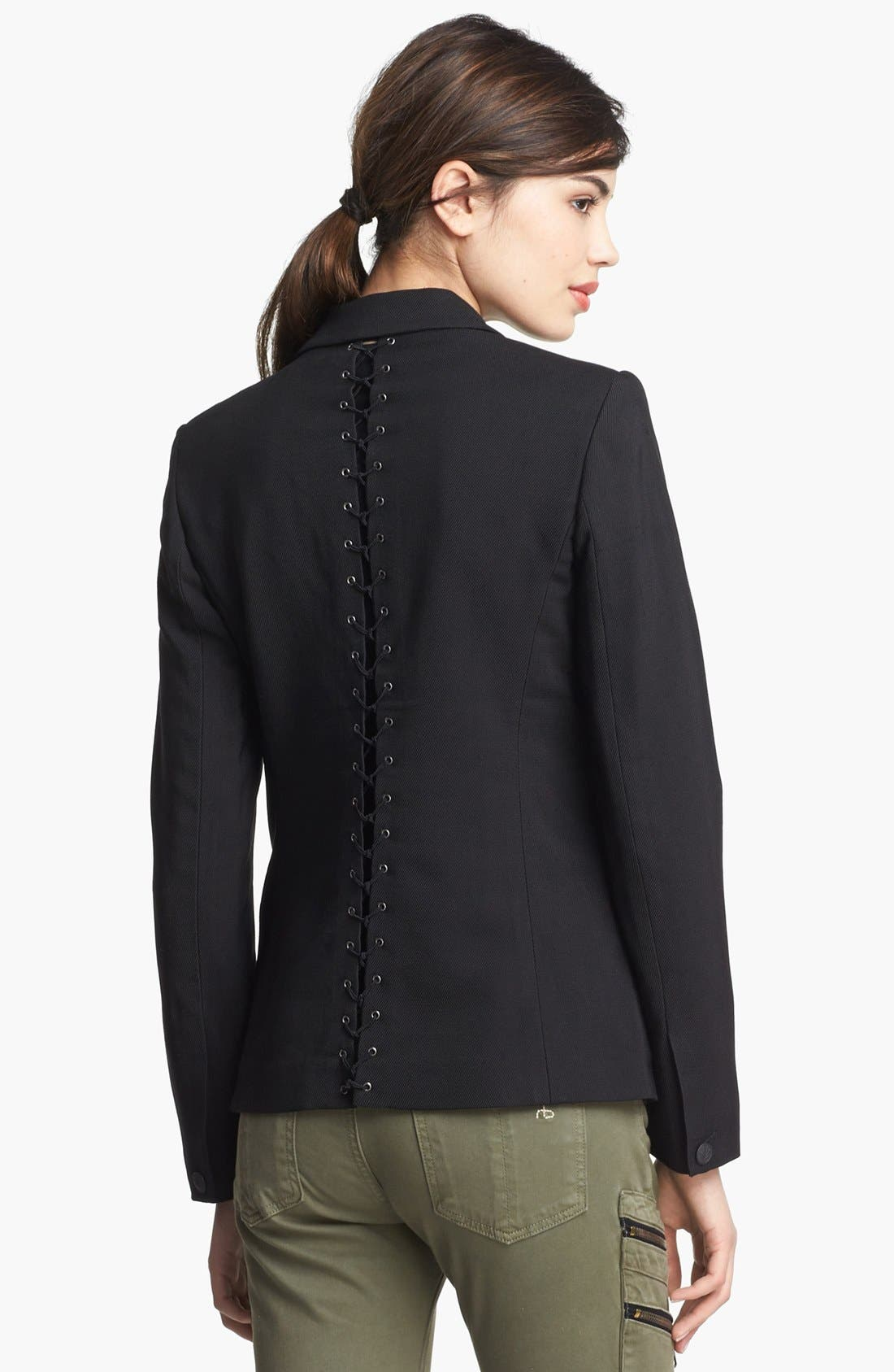 Alternate Image 3  - rag & bone 'Lillian' Lace-Up Back Blazer