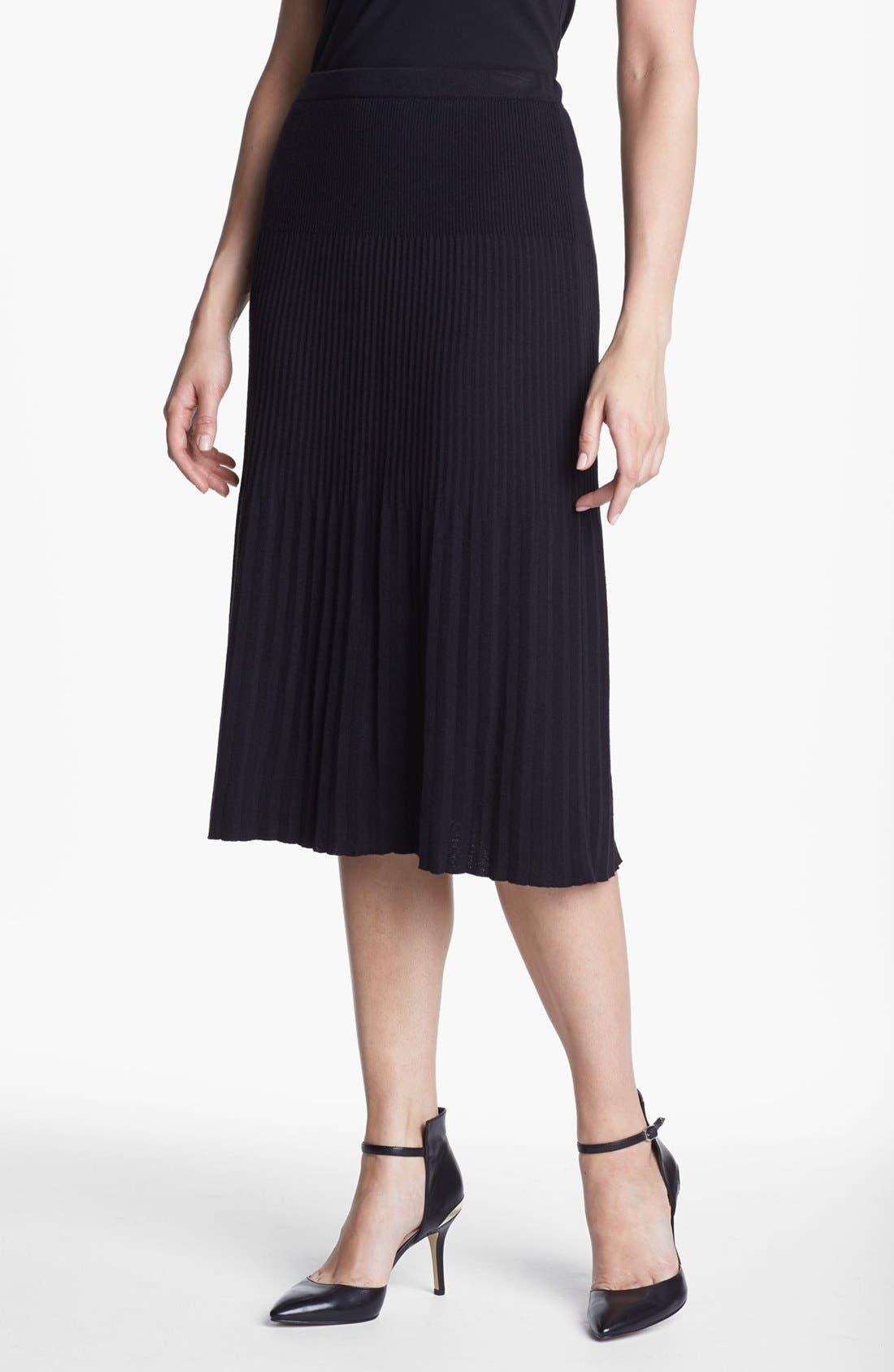 Alternate Image 2  - Nic + Zoe Pleated Knit Skirt