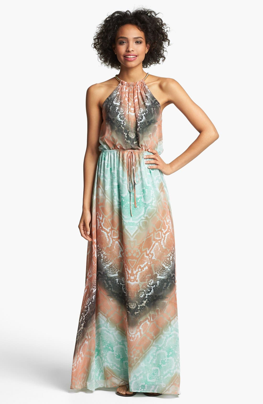 Alternate Image 1 Selected - Vince Camuto Python Print Chiffon Maxi Dress
