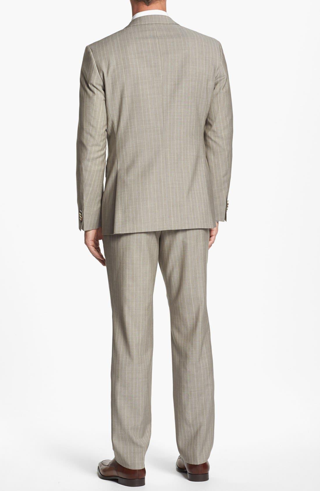 Alternate Image 3  - BOSS Black 'James/Sharp' Trim Fit Stripe Suit (Online Only)