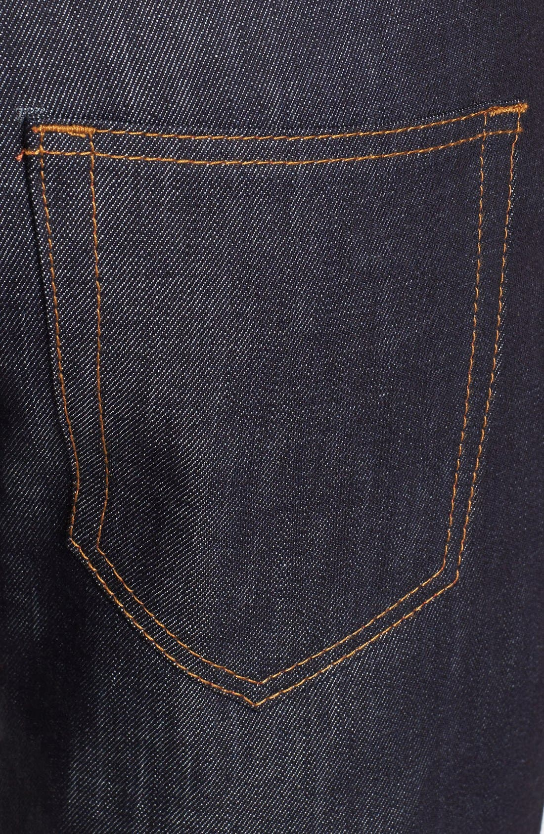Alternate Image 4  - Williamsburg Garment Company 'S. 1st Street' Soft Raw Relaxed Leg Jeans [Raw Indigo]
