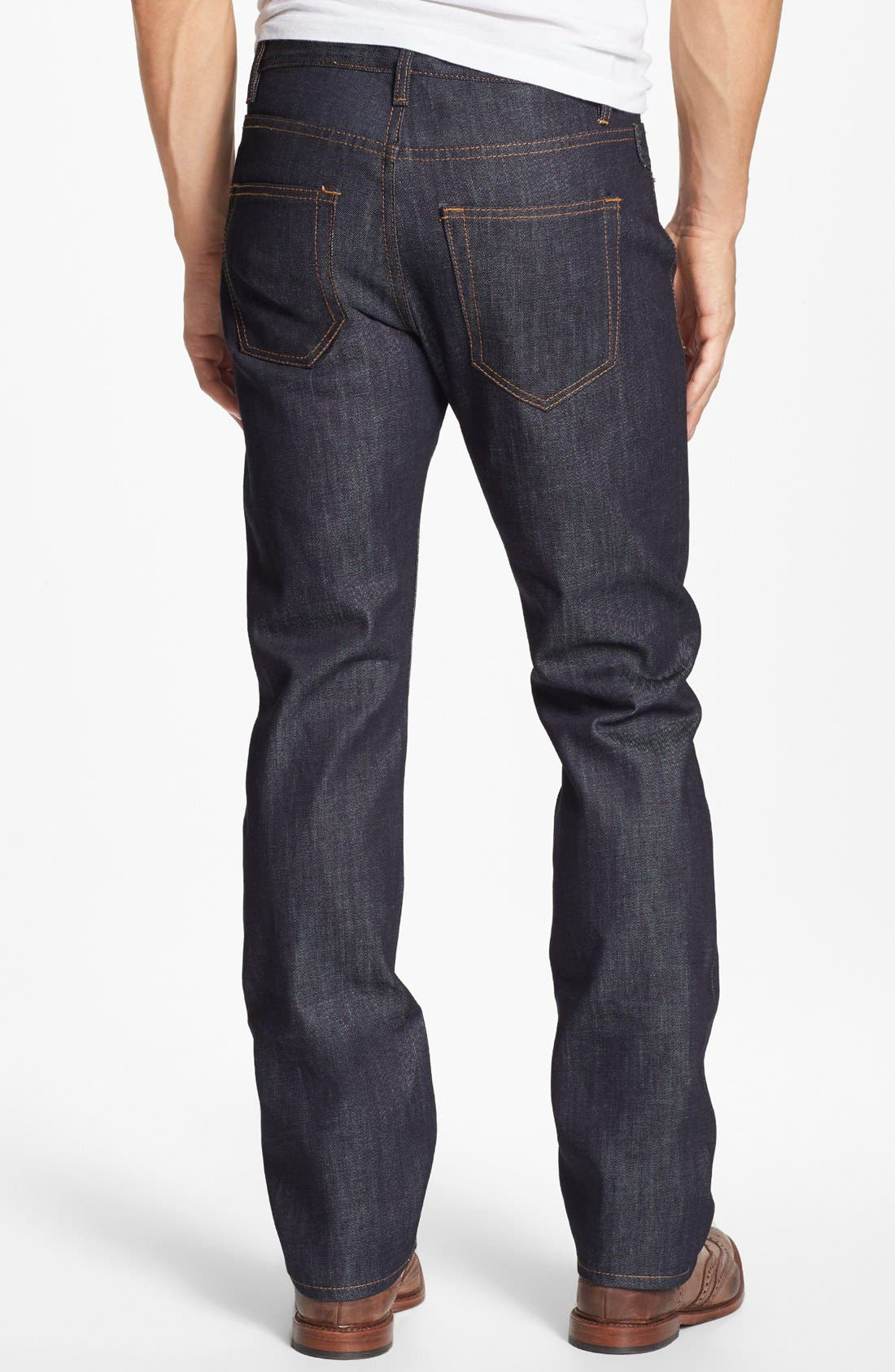 Alternate Image 2  - Williamsburg Garment Company 'S. 1st Street' Soft Raw Relaxed Leg Jeans [Raw Indigo]