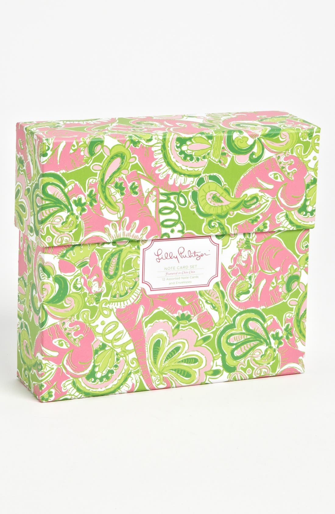 Main Image - Lilly Pulitzer® 'Chin Chin' Note Cards (Set of 12)