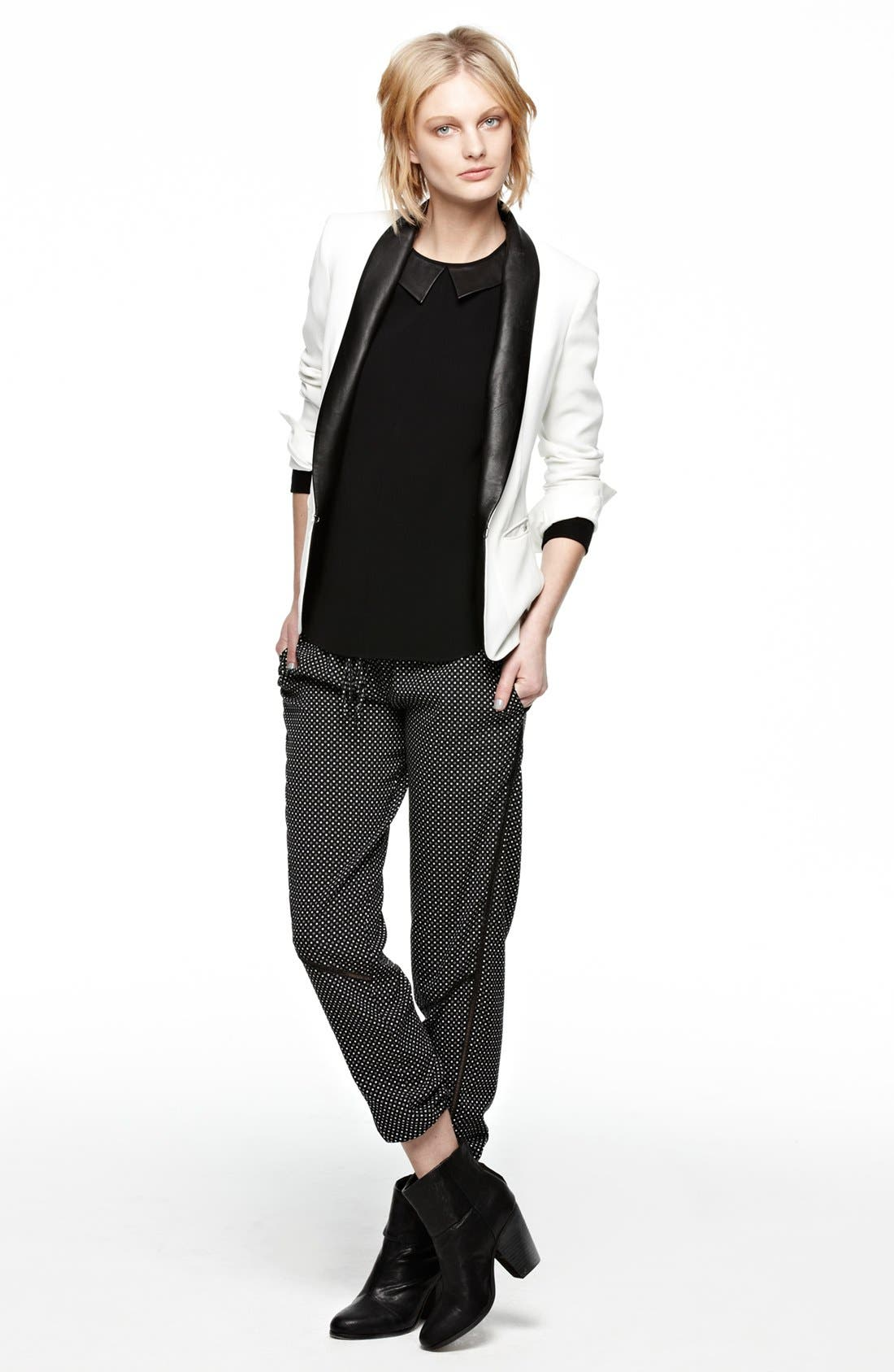 Alternate Image 5  - rag & bone Leather Trim Tuxedo Jacket