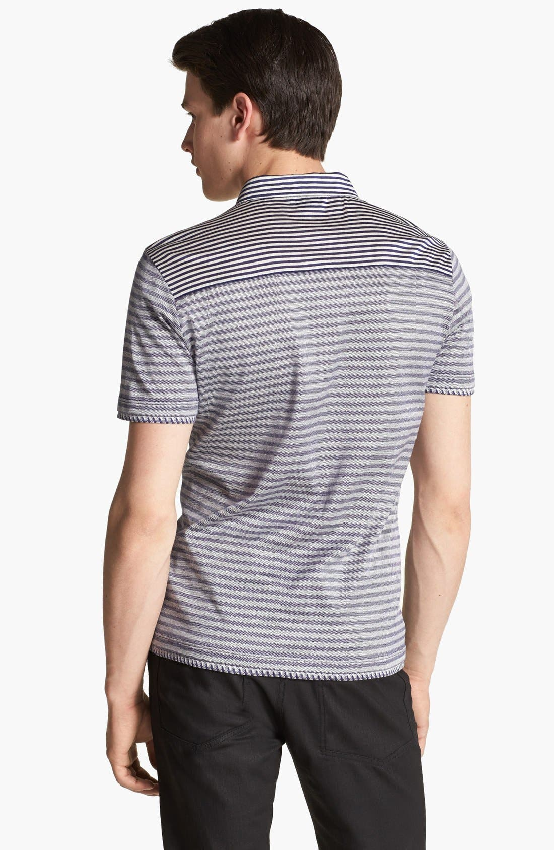 Alternate Image 2  - Versace Stripe Polo