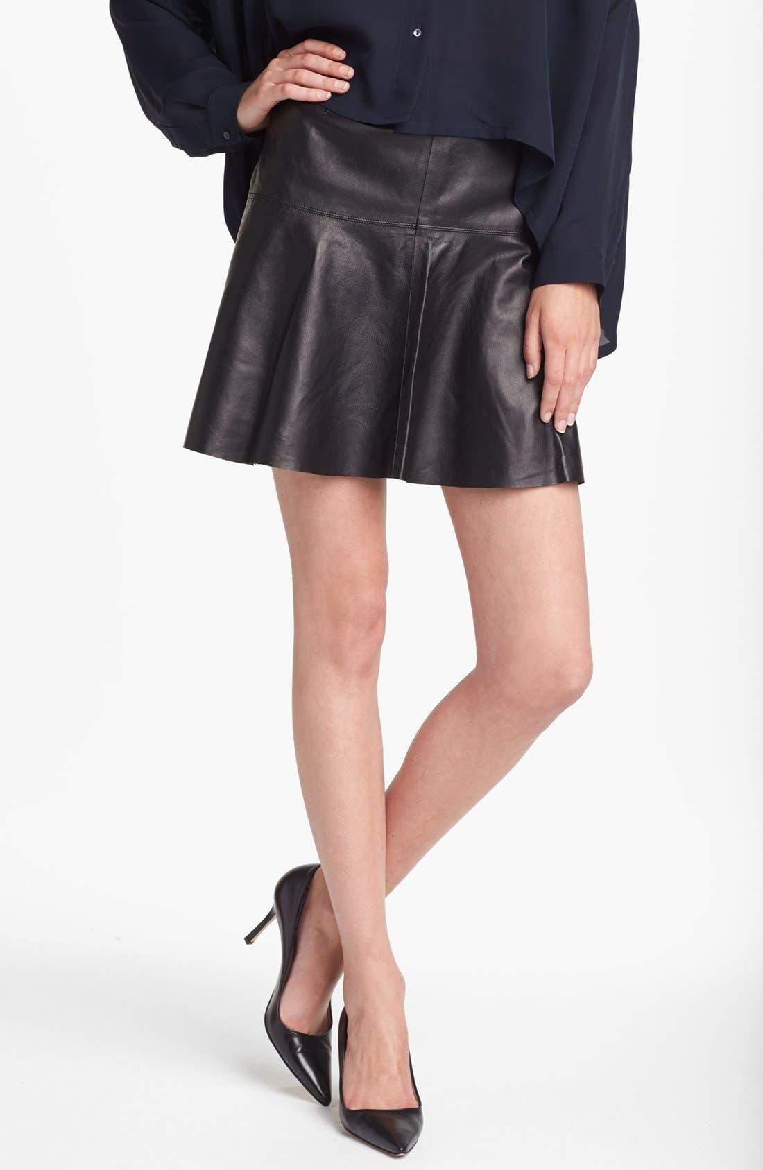 Main Image - Vince Leather Skirt