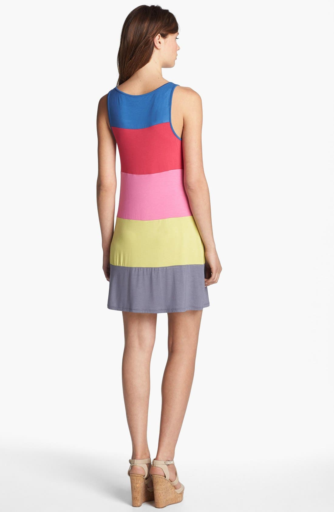 Alternate Image 2  - Kensie Colorblock Knit Tank Dress