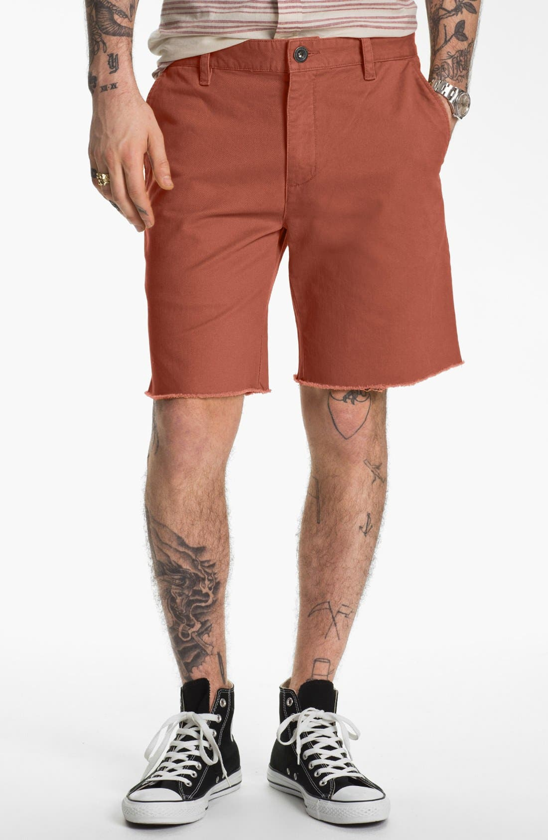 Alternate Image 1 Selected - RVCA 'All Time' Cut Off Chino Shorts