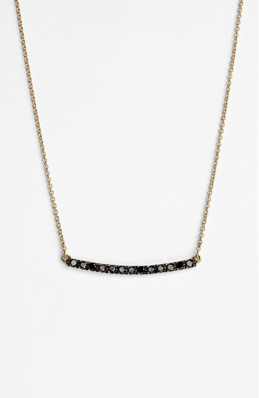 Main Image - Bony Levy 'Stick' Pavé Black Diamond Bar Necklace (Nordstrom Exclusive)