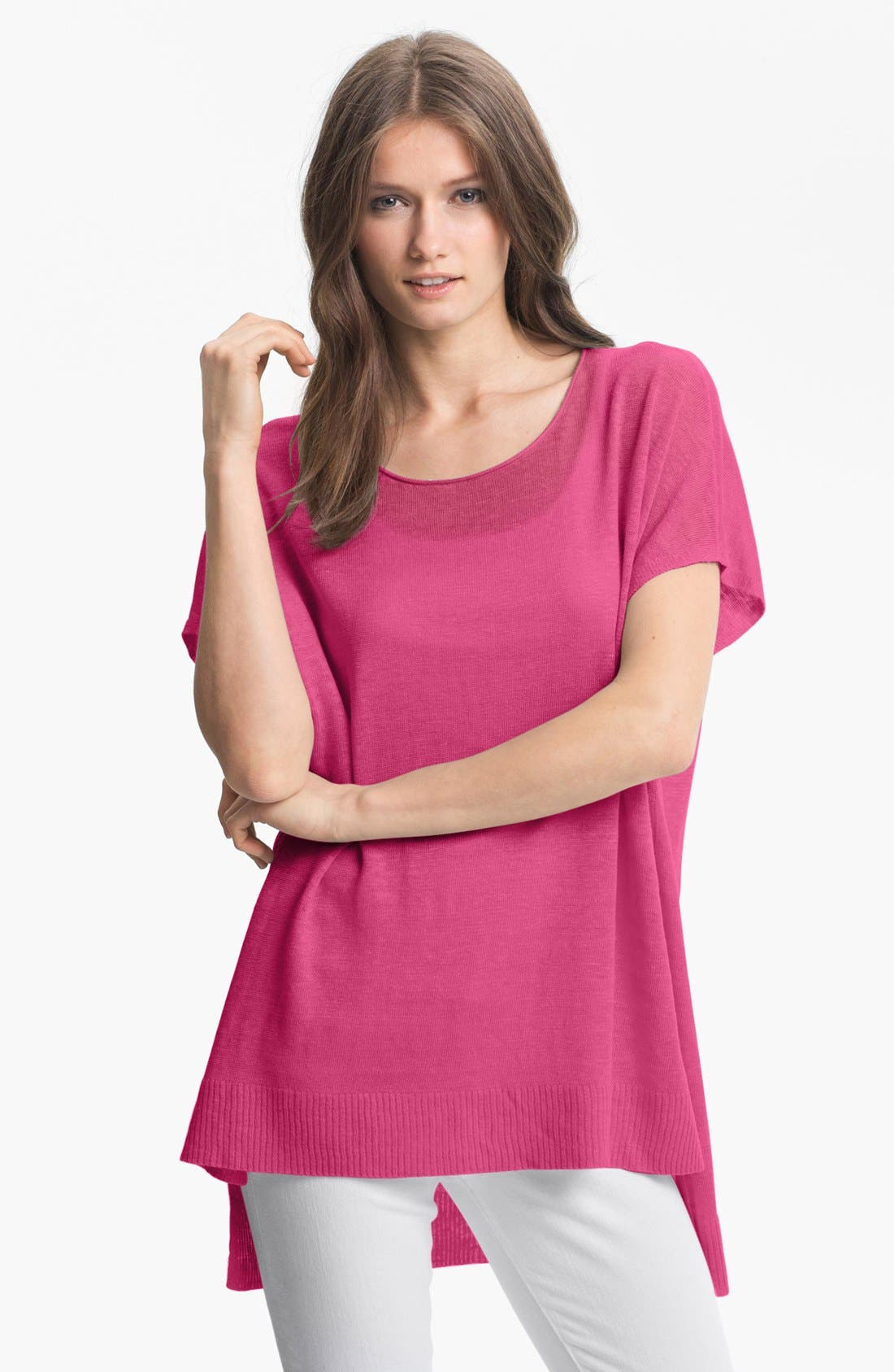 Main Image - Eileen Fisher Scoop Neck Dolman Sleeve Tunic