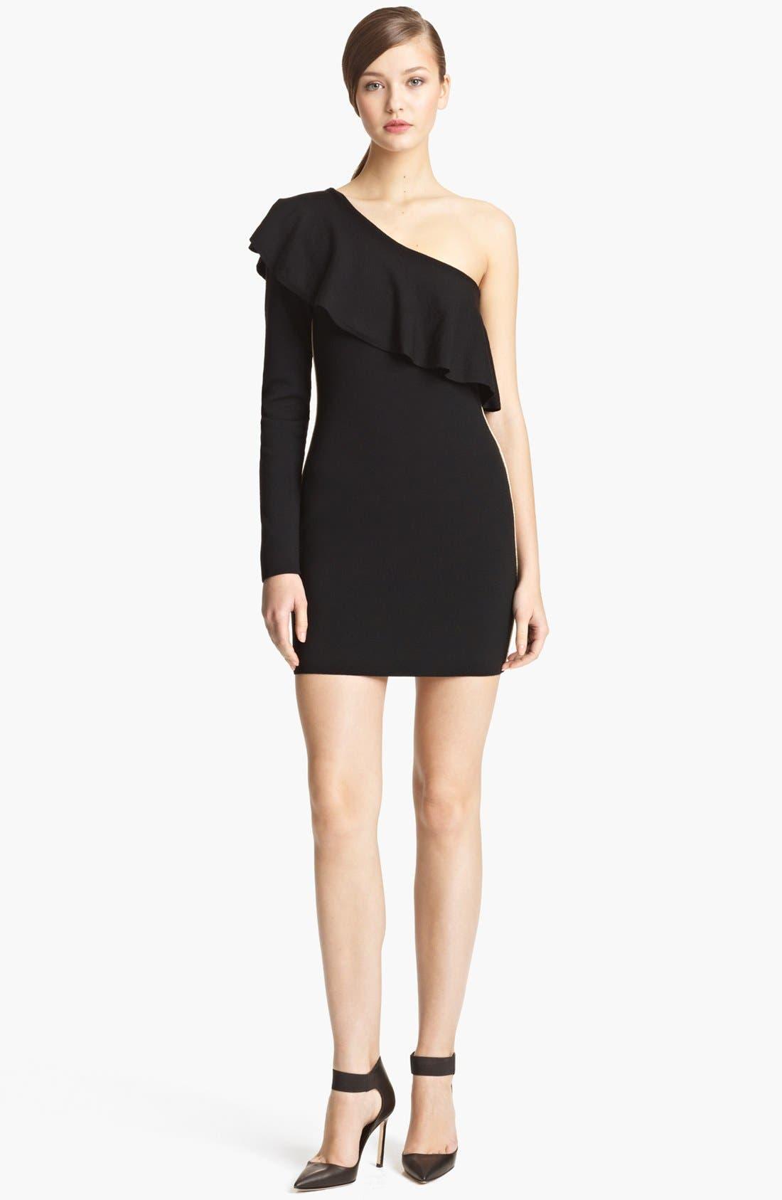 Main Image - Emilio Pucci Ruffle One-Shoulder Sheath Dress