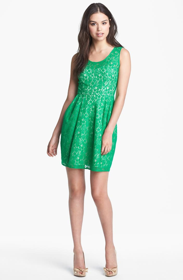 Betsey Johnson Lace Fit Amp Flare Dress Nordstrom