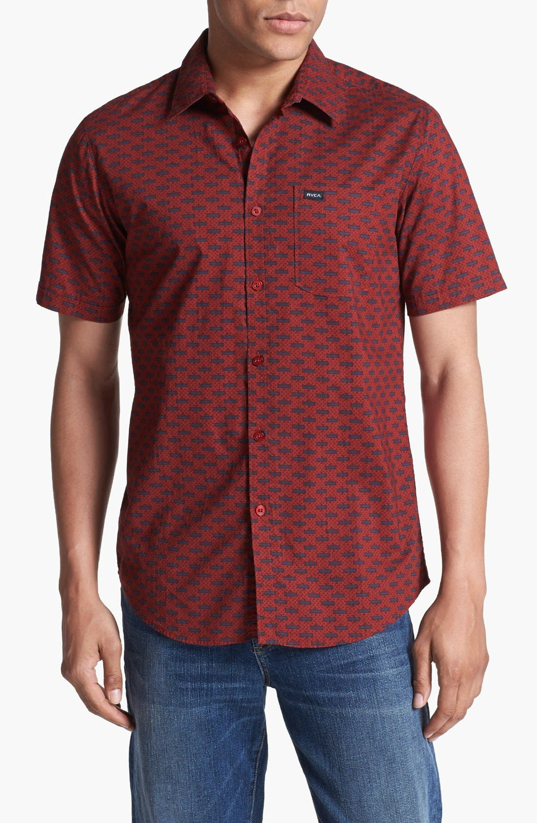 Alternate Image 1 Selected - RVCA 'Chronicles' Print Woven Shirt
