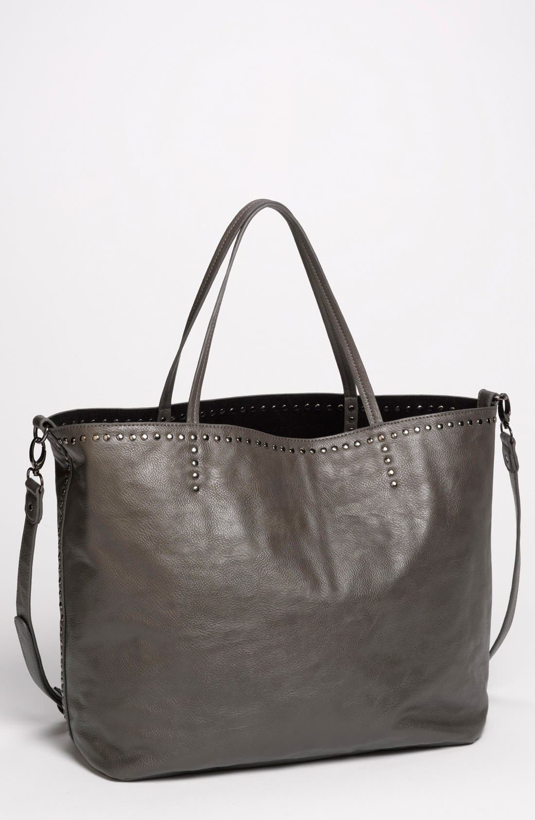 Alternate Image 1 Selected - NB Handbags Studded Faux Leather Tote (Juniors)