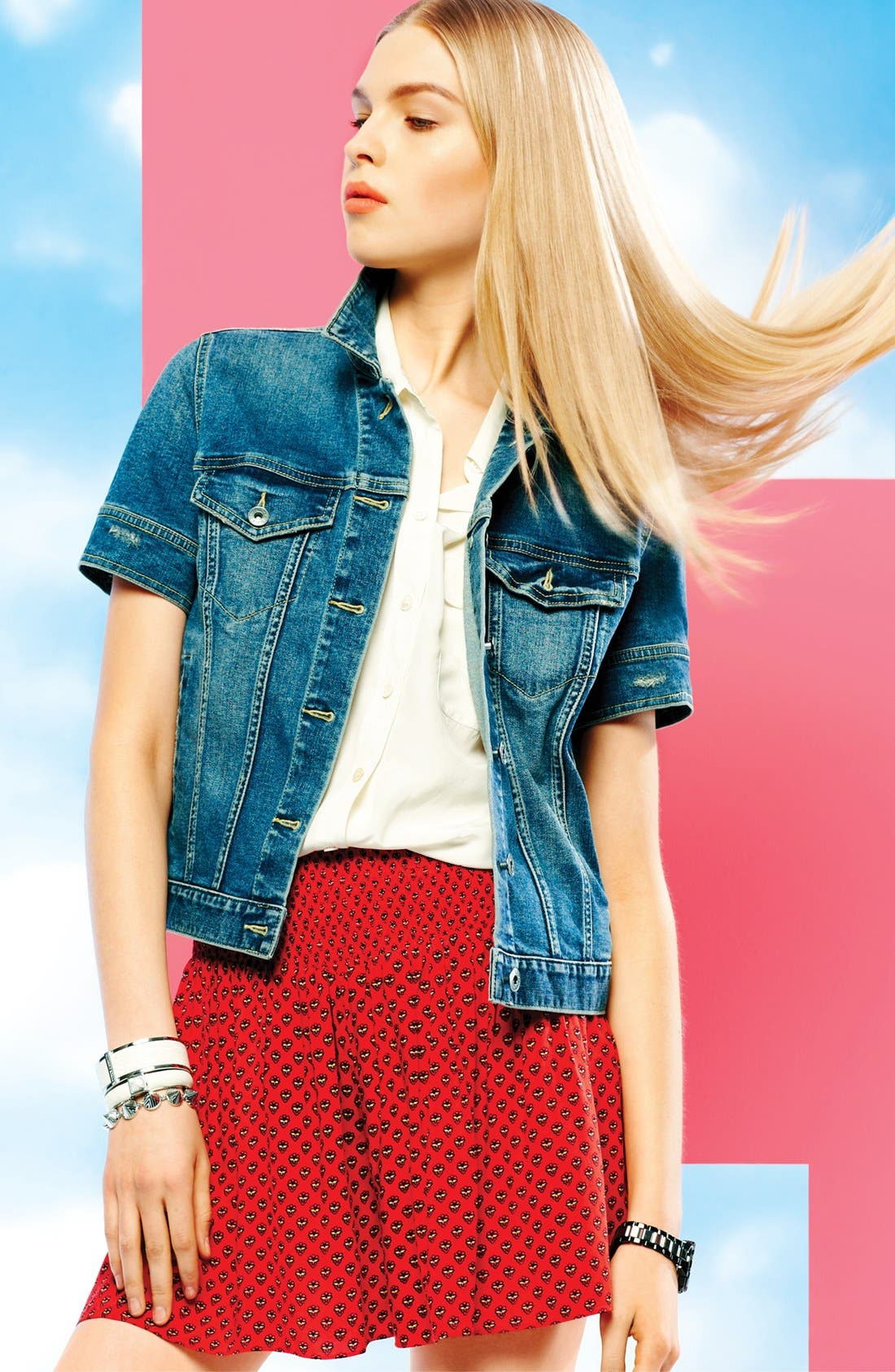 Alternate Image 4  - Two by Vince Camuto Smock Waist Print Shorts