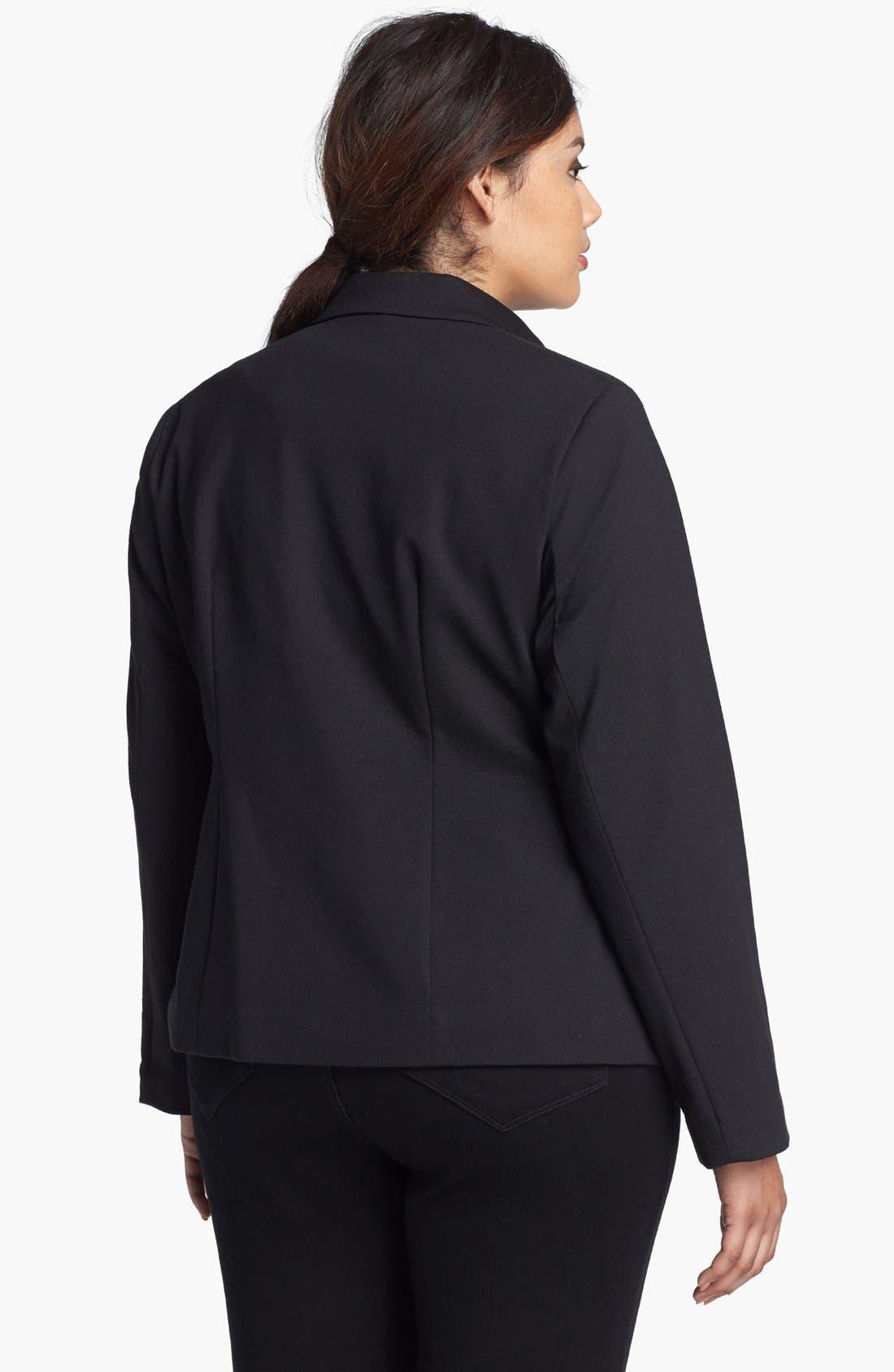 Alternate Image 2  - Evans Single Button Blazer (Plus Size)